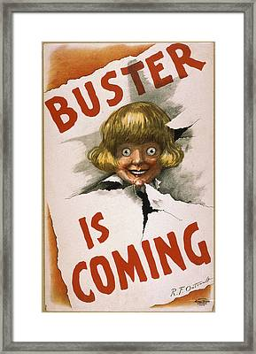 Buster Is Coming Framed Print by Aged Pixel