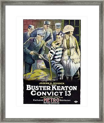 Buster Keaton In Convict 13  Framed Print