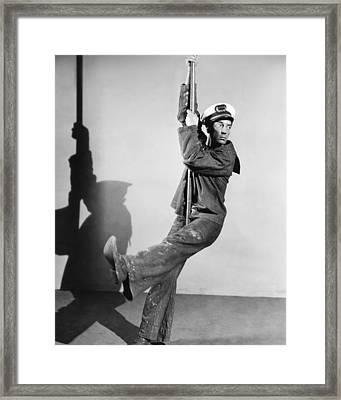Buster Keaton, Mgm Publicity Shot Framed Print