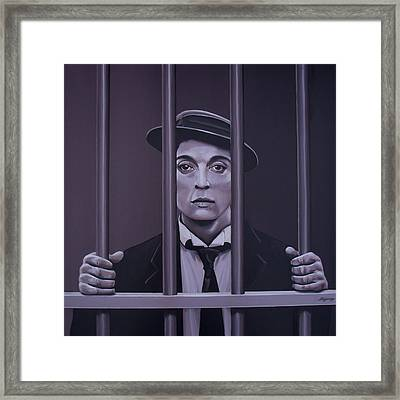 Buster Keaton Painting Framed Print by Paul Meijering
