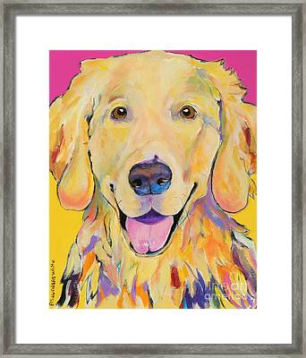 Buster Framed Print by Pat Saunders-White