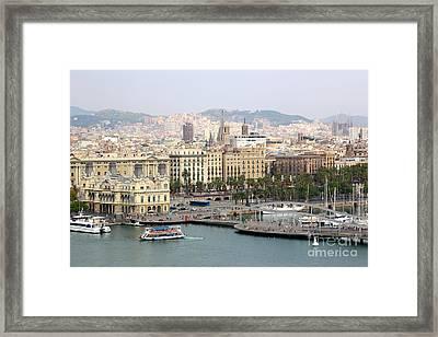 Bustling Barcelona Framed Print