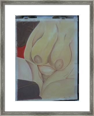 Busty Framed Print by Dro Hall