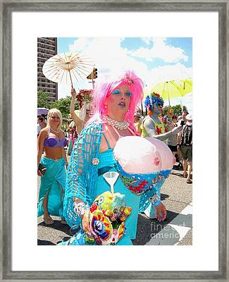 Framed Print featuring the photograph Busty Mermaid by Ed Weidman
