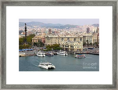 Busy Barcelona Framed Print by Carol Groenen