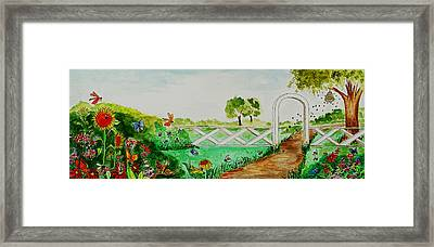 Busy Bee Garden Framed Print