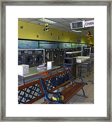 Busy Bee Laundry Framed Print