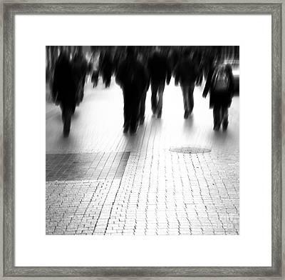 Busy Big City Street Framed Print by Michal Bednarek