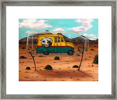 Busy Cow Dairy Edit 3 Framed Print by Leah Saulnier The Painting Maniac