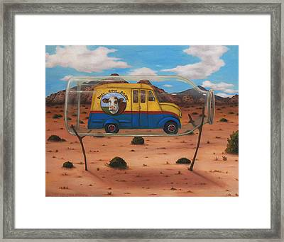 Busy Cow Dairy Edit 4 Framed Print by Leah Saulnier The Painting Maniac