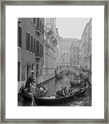 Busy Day In Venice Framed Print