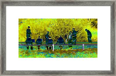 Busy Doing Nothing Framed Print by Sharon Lisa Clarke