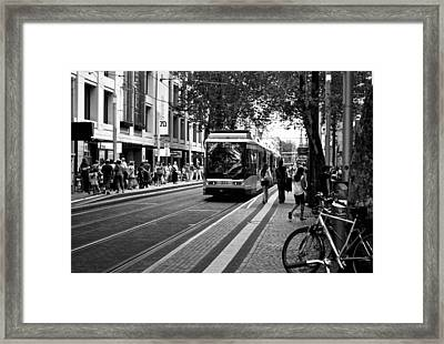 Busy Karlsruhe Framed Print by Marty  Cobcroft