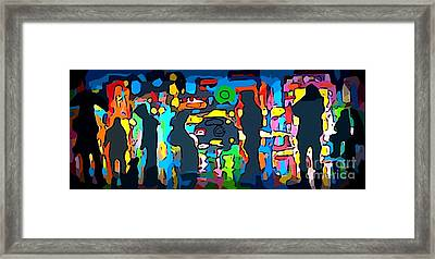 Busy Streets Downtown Framed Print by John Malone