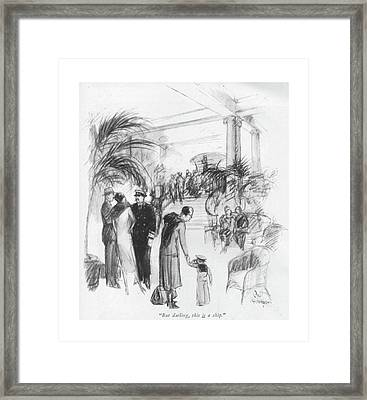 But Darling Framed Print
