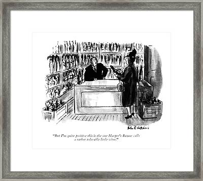 But I'm Quite Positive This Is The One Harper's Framed Print