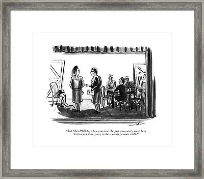 But Miss Phillips Framed Print by Helen E. Hokinson