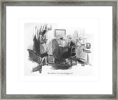 But, Mother! You Haven't Lived Yet Framed Print by Alice Harvey
