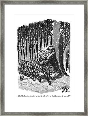 But Mr. Deming Framed Print by Peter Arno
