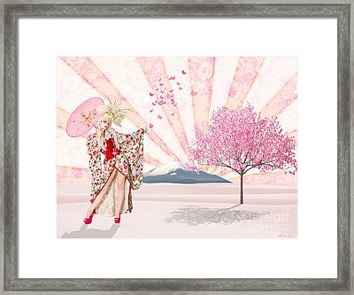 But No      A Butterfly Framed Print