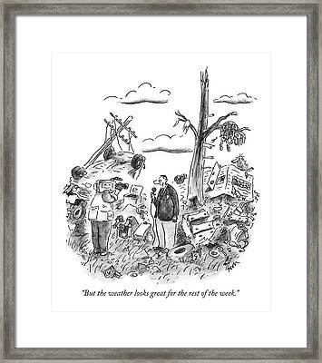 But The Weather Looks Great For The Rest Framed Print by Frank Cotham