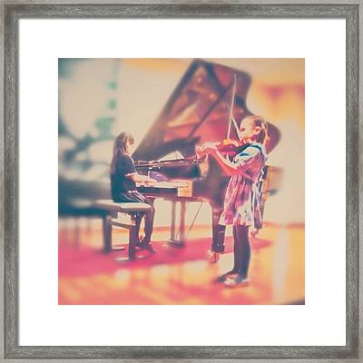 ...but They Made It! :)) #girl #concert Framed Print