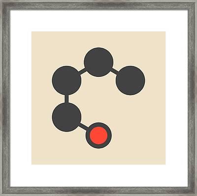 Butanol Molecule Framed Print