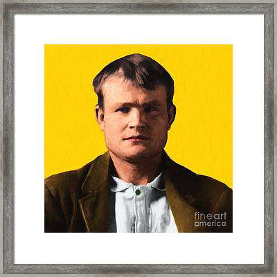 Butch Cassidy 20130513 Square Framed Print by Wingsdomain Art and Photography