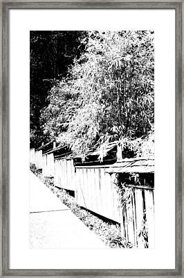 Butchart Gardens Fence Image Framed Print