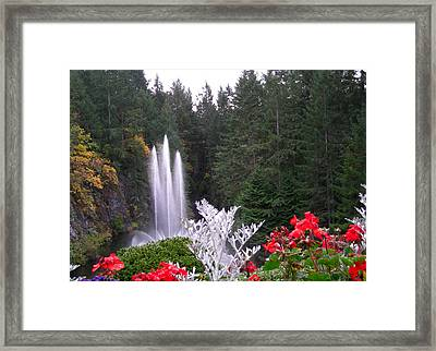 Butchart Gardens Fountain Framed Print