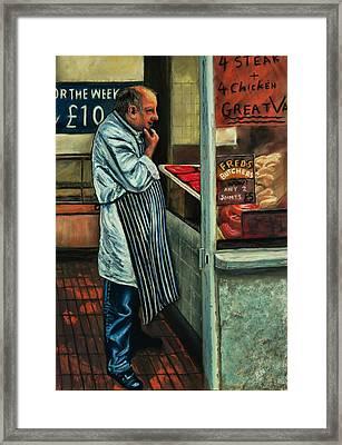 Butchers Profit Framed Print by Peter Jackson