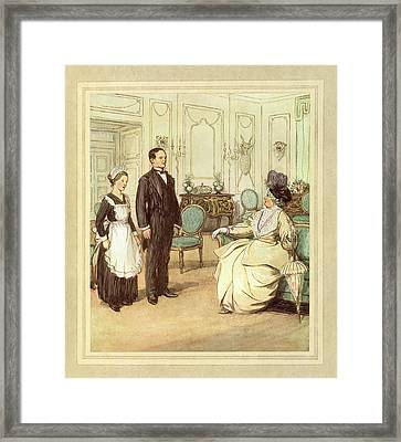 Butler And Maid Framed Print