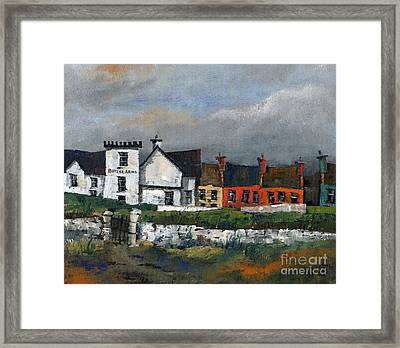 Butler Arms Waterville Kerry Framed Print by Val Byrne