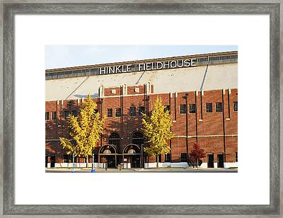 Butler Bulldogs Hinkle Fieldhouse In The Fall Framed Print by Replay Photos