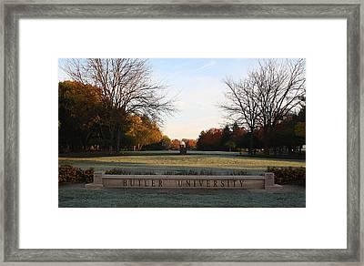 Butler University Mall Framed Print by Dan McCafferty