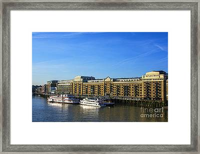 Butlers Wharf Framed Print by Chris Thaxter