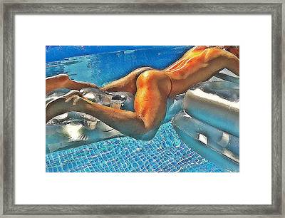 Butt And Pool Framed Print