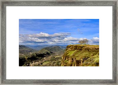 Butte Creek Canyon Overlook Framed Print