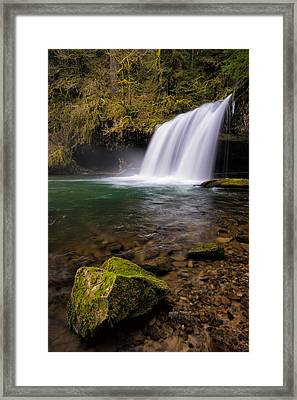 Butte Creek Falling Framed Print by Brian Bonham