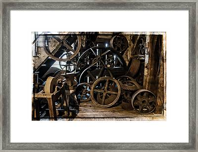 Butte Creek Mill Interior Scene Framed Print by Mick Anderson