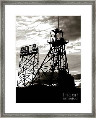 Butte Montana Headframe Framed Print by David Bearden