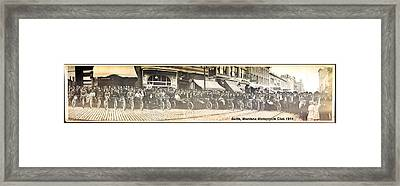 Butte Motorcycle Club 1914 Sepia Tone Framed Print