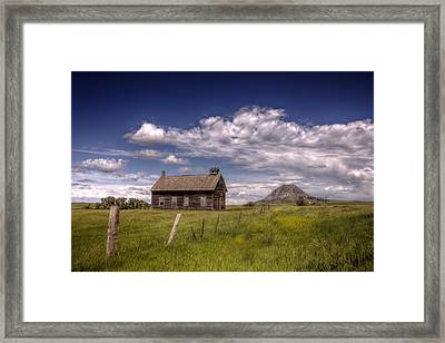 Butte View Framed Print