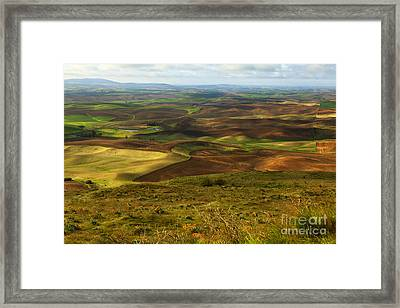 Butte With A View Framed Print by Beve Brown-Clark Photography