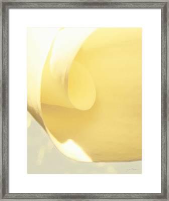 Butter Curl Framed Print by Julie Magers Soulen