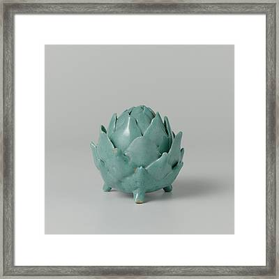 Butter Dish Of Faience In The Shape Of An Artichoke Framed Print by Quint Lox