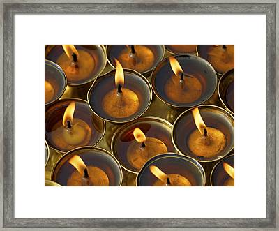 Butter Lamps Framed Print by Dutourdumonde Photography