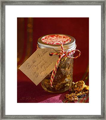 Butter Toffee Pecan Nuts With Himalania Salt Framed Print by Iris Richardson