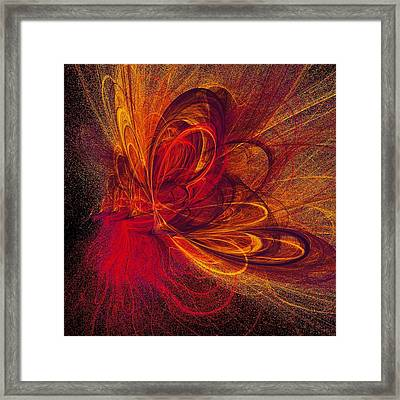 Butterfire Framed Print