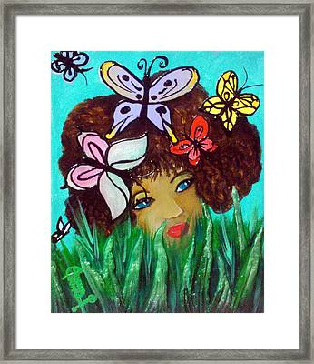 Butterflies At Play Framed Print by Ohso Faboolus